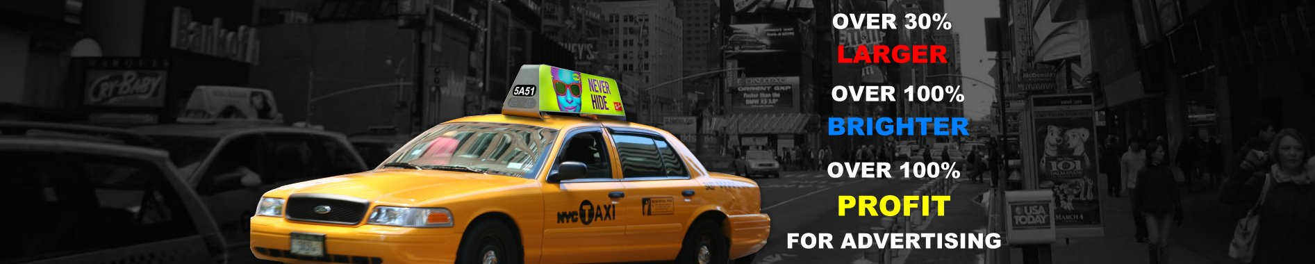 LED Taxi Display For Your Advertisement